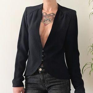 Vintage black wool evening jacket